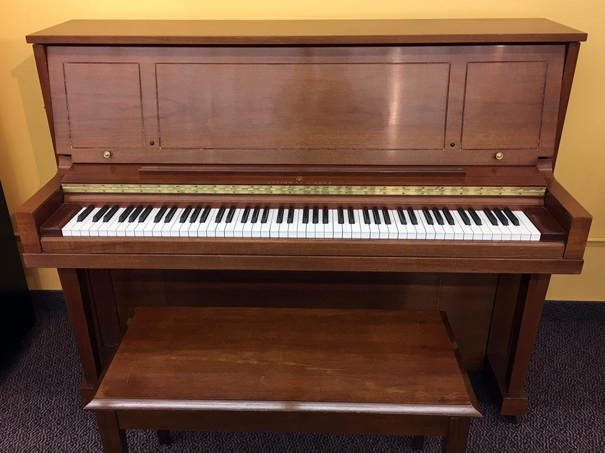 Used Steinway 1098 1984 Mahogany Satin Upright Piano
