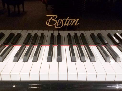 "Used Boston GP-178 5'10"" Ebony Polish Grand Piano"