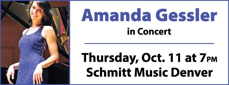 Pianist Amanda Gessler in Concert at Schmitt Music Denver