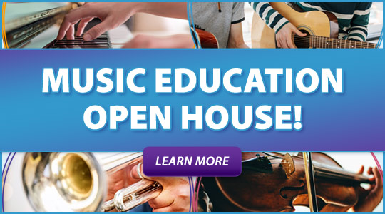 Music Education Open House events: special offers, teacher meet and greet