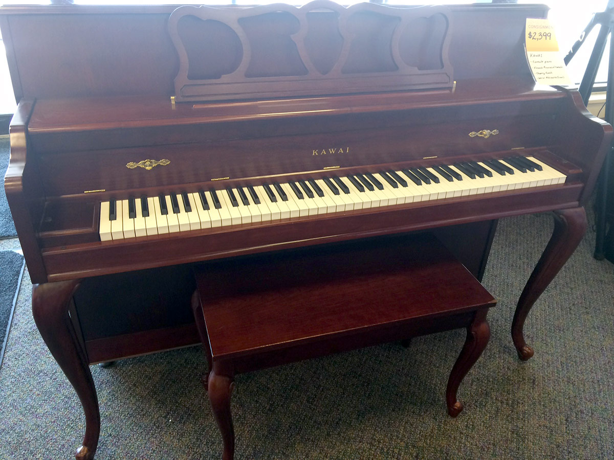 Used Kawai French Provincial Cherry Console Piano