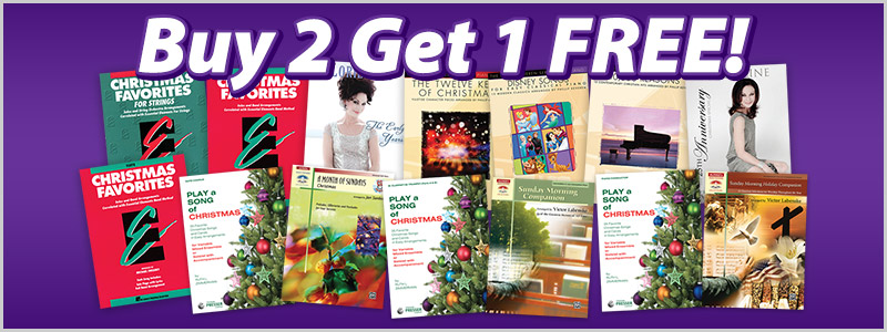 Buy 2 Get 1 Free on Lorie Line and Holiday Sheet Music & Books!