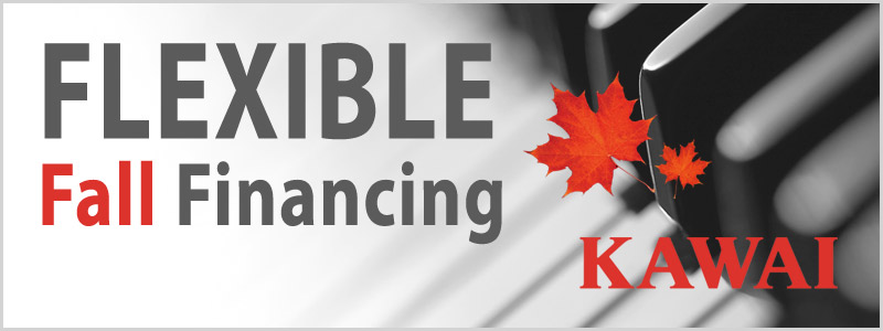 Flexible Fall Financing on Kawai Pianos!