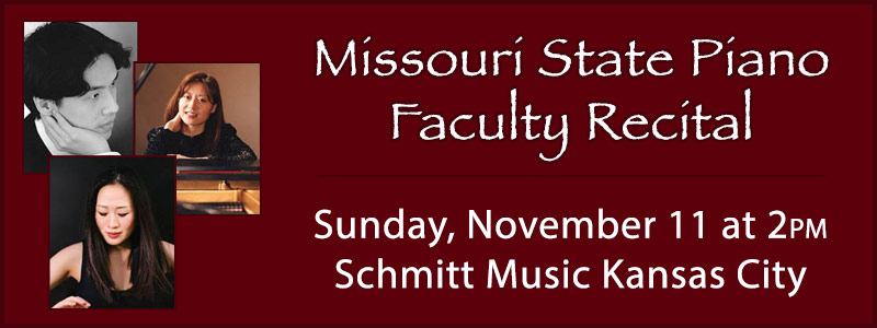 Missouri State Piano Faculty Recital at Schmitt Music Kansas City