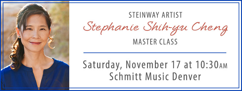 Steinway Artist Stephanie Shih-yu Cheng Master Class at Schmitt Music Denver