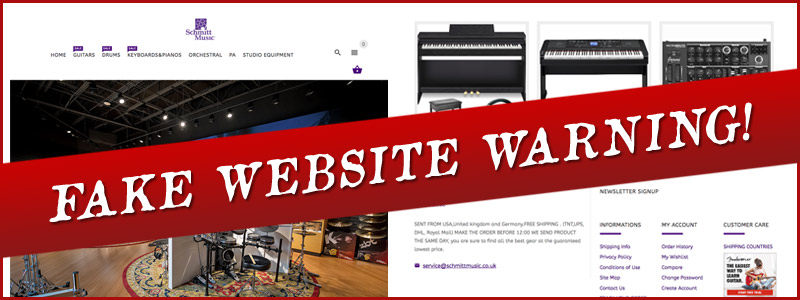 A Warning Regarding Imposter / Counterfeit Websites