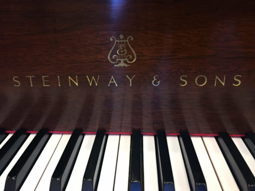"Used Steinway Chippendale 5'7"" Mahogany Grand Piano"