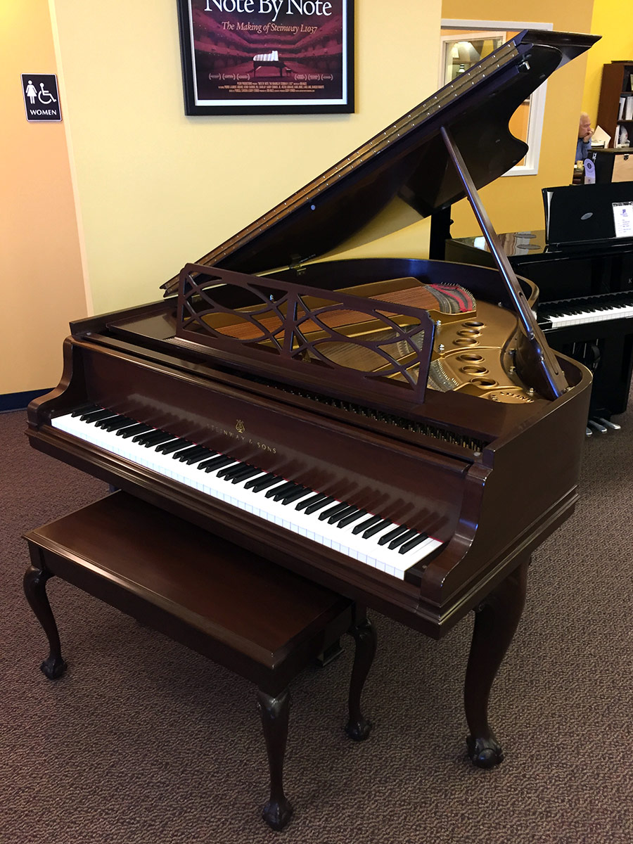 Used Steinway Chippendale 5 7 Quot Mahogany Baby Grand Piano