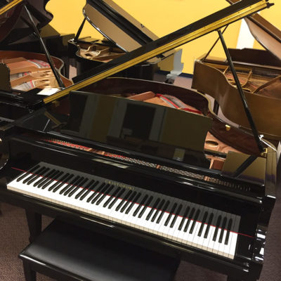 "Used Cristofori 4'10"" High Polished Ebony Baby Grand Piano"