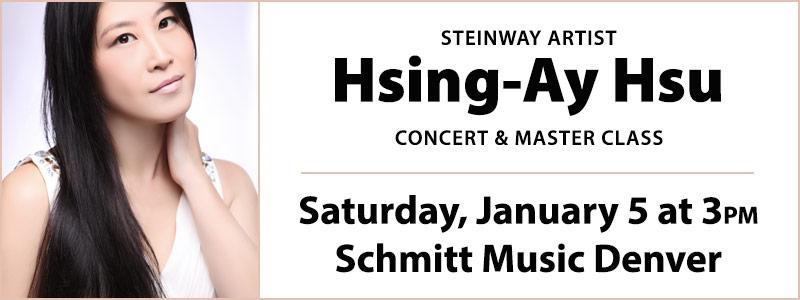 Steinway Artist Hsing-ay Hsu Concert & Master Class at Schmitt Music Denver