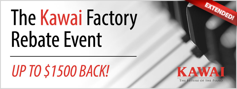 Kawai Piano Factory Rebate Offer Extended through December!