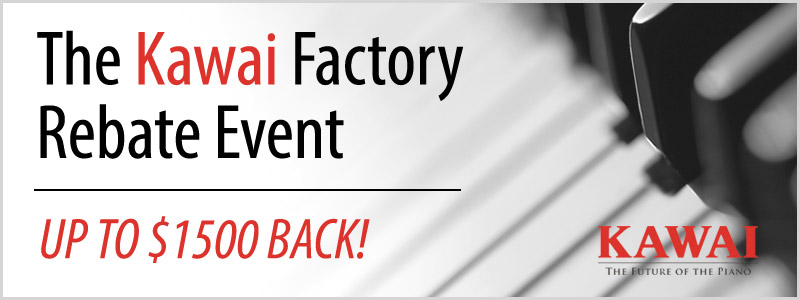 Kawai Piano Factory Rebate Offer in November!