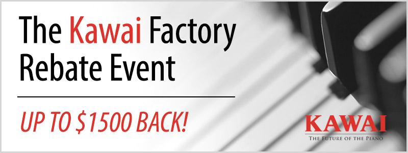 Kawai Piano Factory Rebate Offer in November!