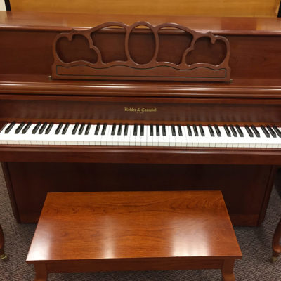 "Used Kohler & Campbell 42"" Cherry Console Piano"