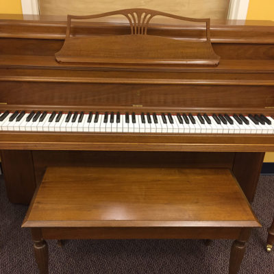 "Used Steinway 42"" Cherry Console Piano"