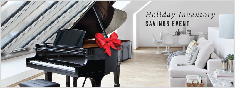 Steinway & Sons Holiday Inventory Savings Event