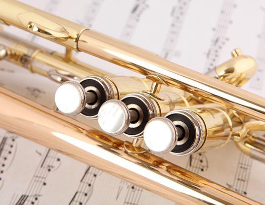 Trombone and printed music