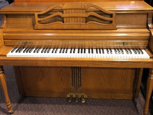 Used Wurlitzer 2780 Oak Upright Piano