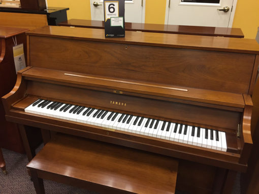 "Used Yamaha P-22 45"" Walnut Upright Piano"