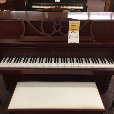 "Used Samick SU-108T 1985 42"" Cherry Console Piano"