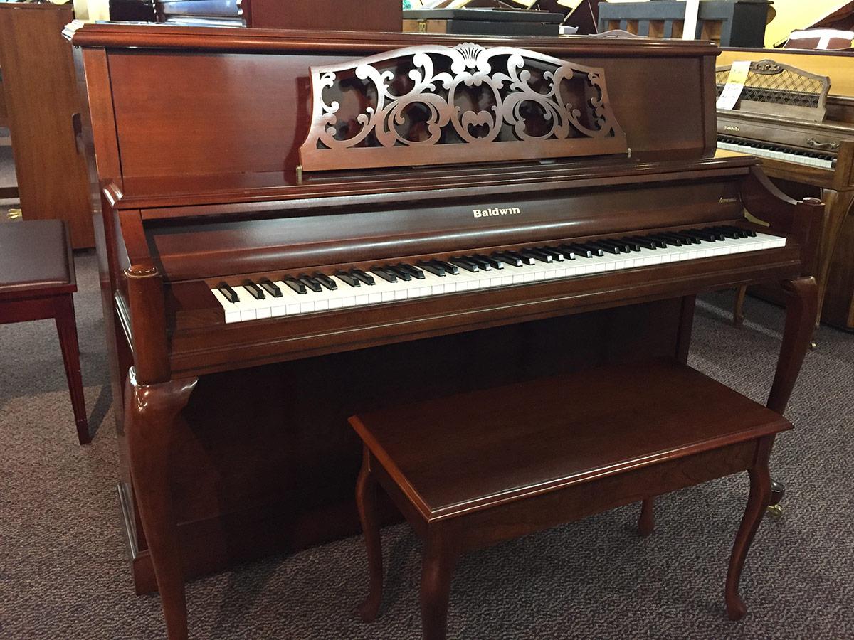 "Used Baldwin 2096 44"" Cherry Upright Piano"
