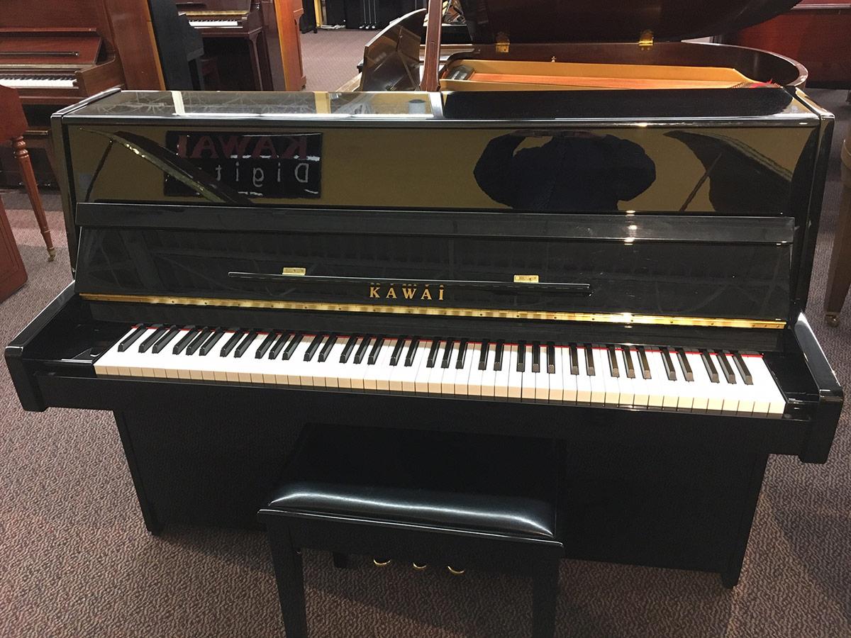 """Used Kawai K15 2008 44"""" Ebony Polish Upright Piano"""