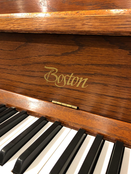 Used Boston 118S Red Oak Upright Piano