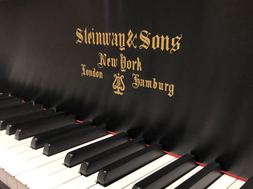 "Used Steinway A 6'2"" Ebony Satin Grand Piano"
