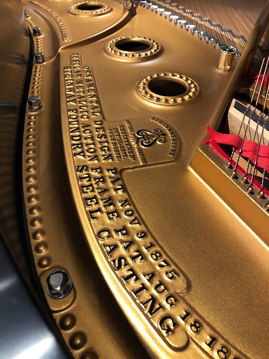 """Used Steinway A 6'2"""" Ebony Satin Grand Piano"""