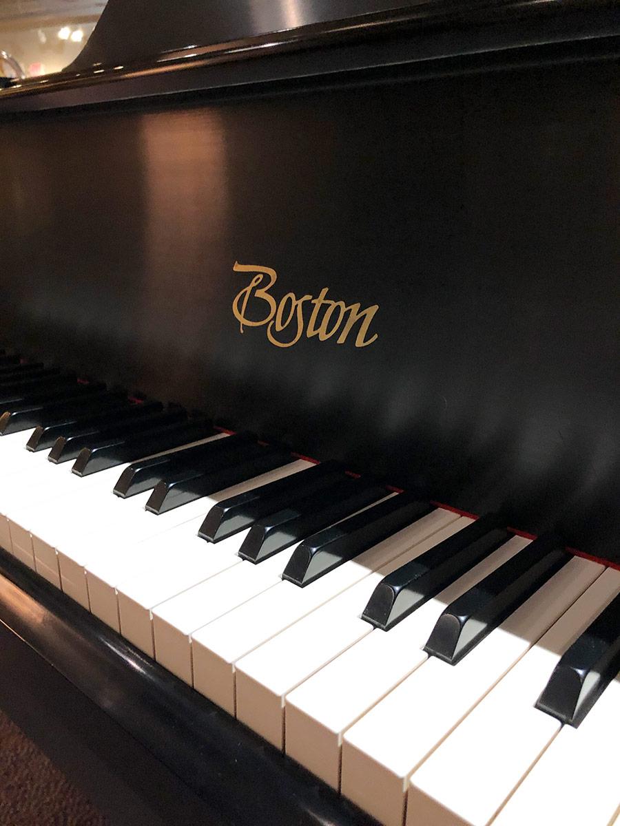 """Used Boston GP163 5'4"""" Ebony Satin Grand Piano"""