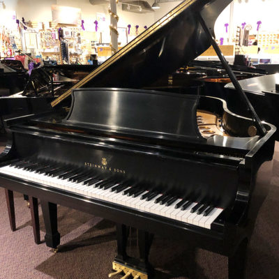 "Used Steinway M Ebony 5'7"" Ebony Satin Grand Piano"