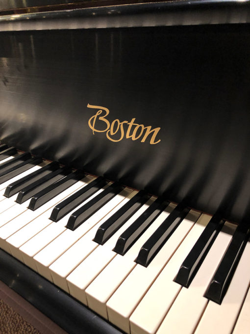 "Used Boston GP-178 5'10"" Ebony Satin Grand Piano"