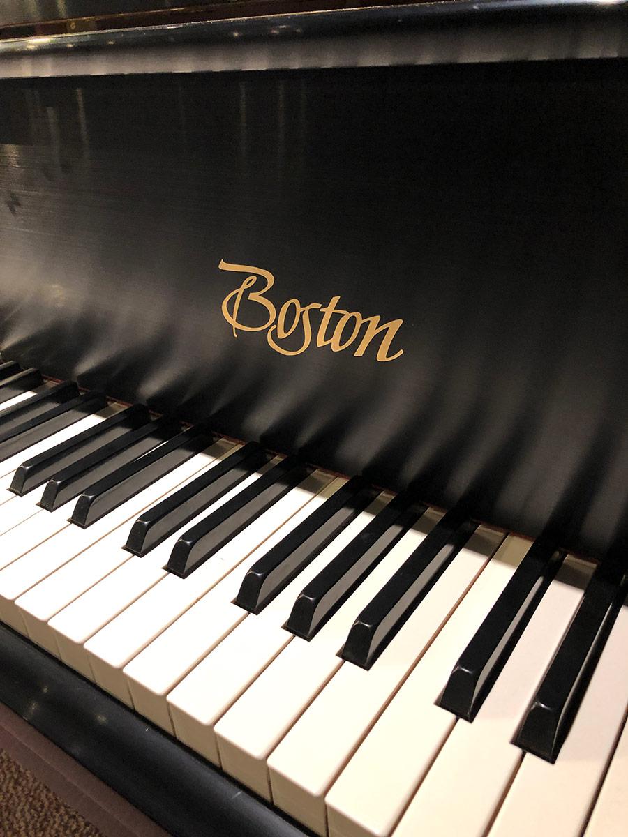 """Used Boston GP-178 5'10"""" Ebony Satin Grand Piano"""