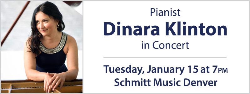 Pianist Dinara Klinton in Concert at Schmitt Music Denver