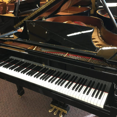 "Used Steinway M 5'7"" Ebony Polish Grand Piano"