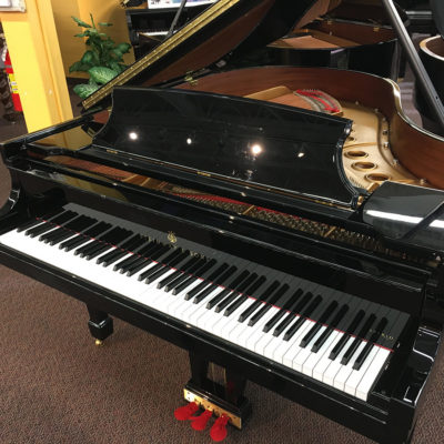 "Used Steinway M Spirio 5'7"" Ebony Polish Grand Piano"