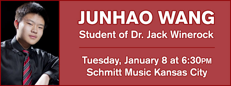 Pianist Junhao Wang in Recital at Schmitt Music