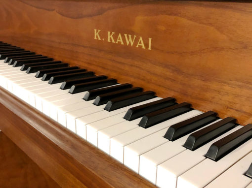 "Used Kawai KG-5D 6'8"" Walnut Satin Grand Piano"