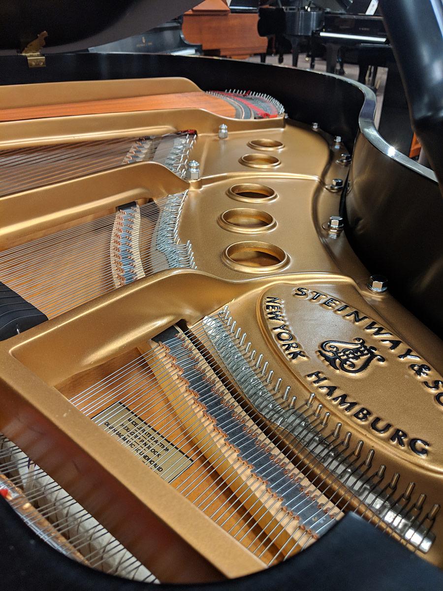 """Used Steinway S 5'1"""" Ebony Satin Grand Piano"""