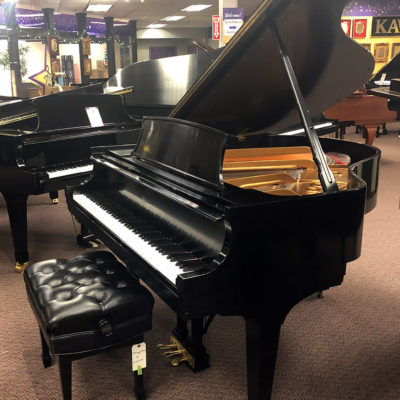 Used Steinway S Ebony Satin Grand Piano