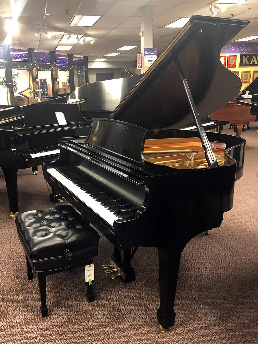 Used Steinway S Ebony Satin Grand Piano