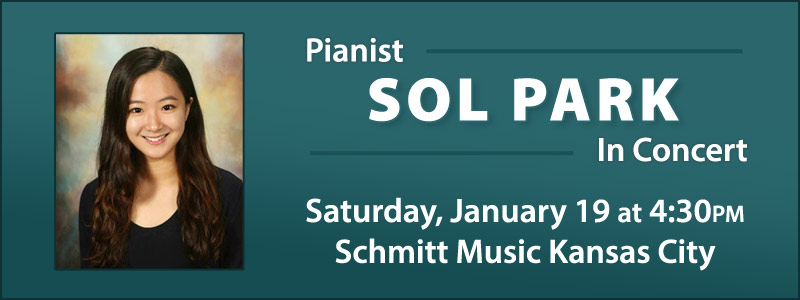 Student Pianist Sol Park in Concert at Schmitt Music Kansas City