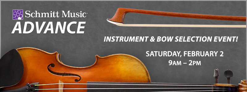 Instrument & Bow Selection Event at Schmitt Music Sioux Falls