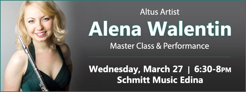 Altus Artist Alena Walentin Flute Master Class & Performance