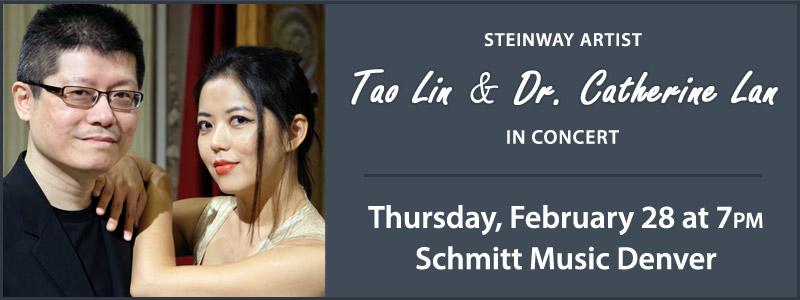 Steinway Artist Tao Lin & Dr. Catherine Lan at Schmitt Music Denver