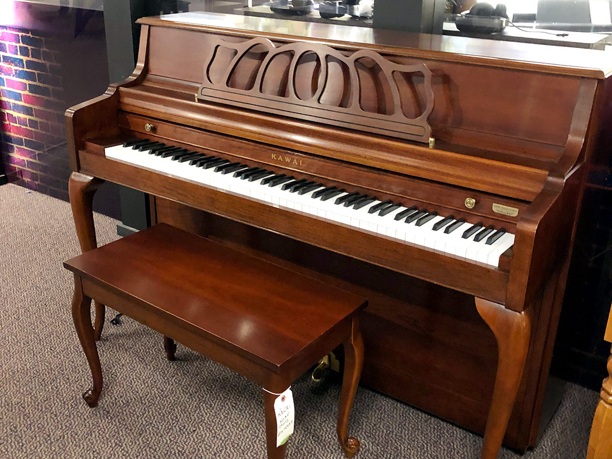"Used Kawai 503 43"" French Cherry Upright Piano"