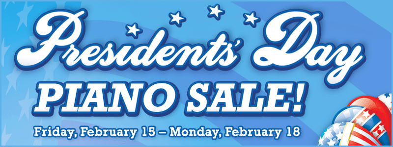 Presidents' Day Weekend Piano Sale at Schmitt Music piano stores