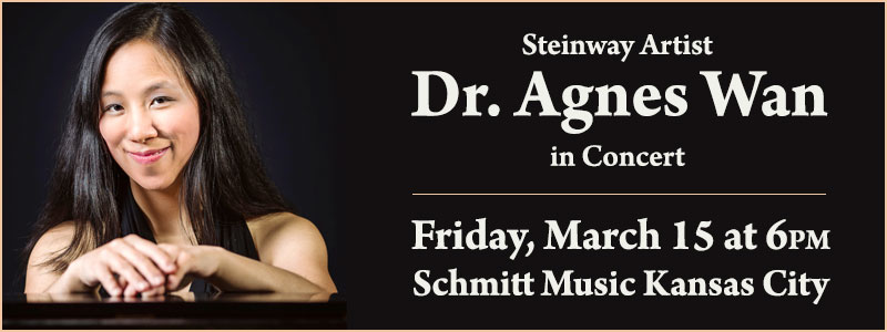 Steinway Artist Agnes Wan in Concert at Schmitt Music Kansas City