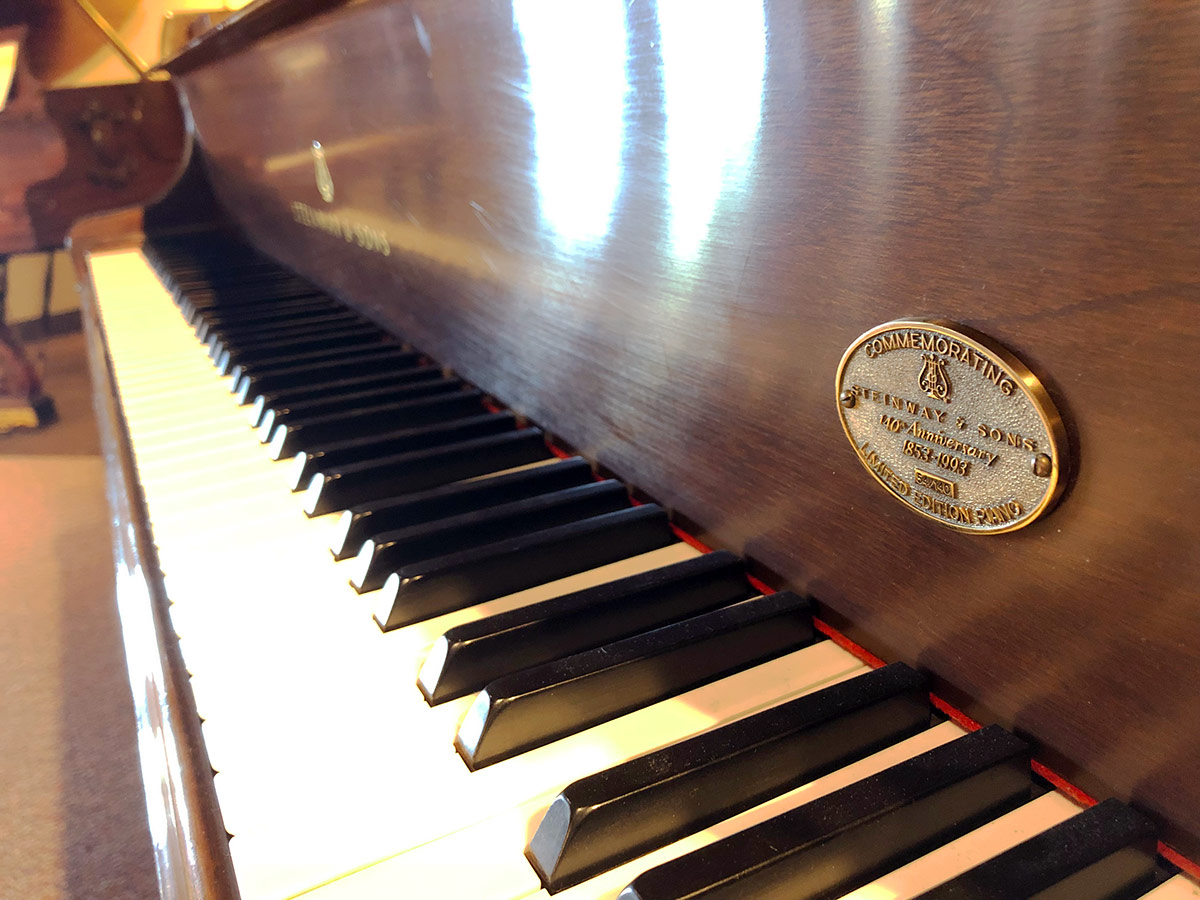 "Used Steinway Model B 6'11"" Mahogany Satin Grand Piano"