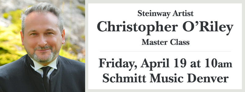 Steinway Artist Christopher O'Riley Master Class at Schmitt Music Denver